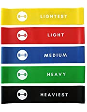 Resistance Loop Bands - Elevans Premium Exercise Bands Set of 5 for Yoga, Pilates, and Strength Training