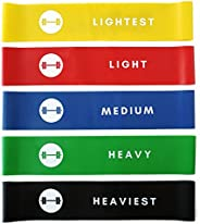Resistance Loop Bands - Elevans Premium Exercise Bands Set of 5 - Designed in Canada…