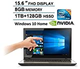 2016 Toshiba Satellite 15.6 Full HD Touchscreen Laptop, Intel Core i7-6700HQ, 12GB RAM, NVIDIA GeForce GTX 950M, 1TB HDD +128GB SSD, DVD Super Multi, Webcam, HDMI, Bluetooth, Windows 10