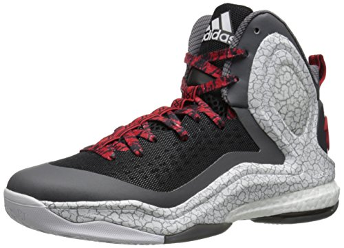 adidas Performance Men's D Rose 5 Boost Basketball Shoe, Black/White/Grey adidas Shoes Closeout/Special Buys Child Code