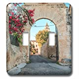 3dRose Danita Delimont - Architecture - Spain, Balearic Islands, Mallorca, church gateway. - Light Switch Covers - double toggle switch (lsp_277909_2)
