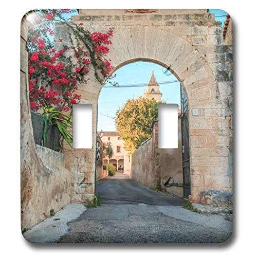 3dRose Danita Delimont - Architecture - Spain, Balearic Islands, Mallorca, church gateway. - Light Switch Covers - double toggle switch (lsp_277909_2) by 3dRose