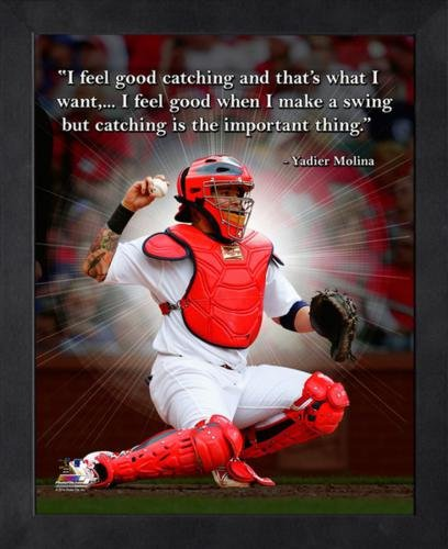 """Yadier Molina St. Louis Cardinals Framed 11x14 """"Pro Quote"""""""