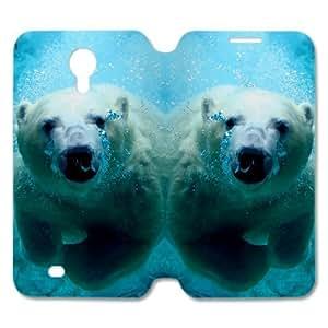 WXSTAR Fashion Polar Bear Custom Cover Case for SamSung Galaxy S4