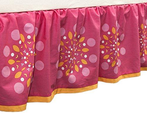 Sunshine Floral Print Crib Dust Ruffle by True Baby (Skirt Print Gathered)