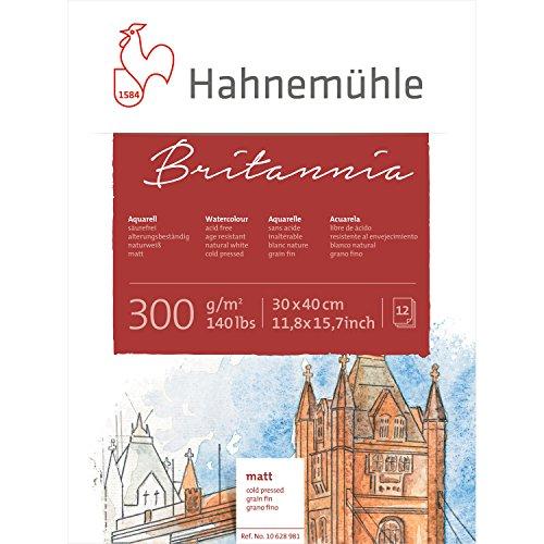 (Hahnemuhle Britannia- HAHNEMUHLE Britannia Watercolour Block 300 g/m2 140lbs MATT 30 x 40cm )