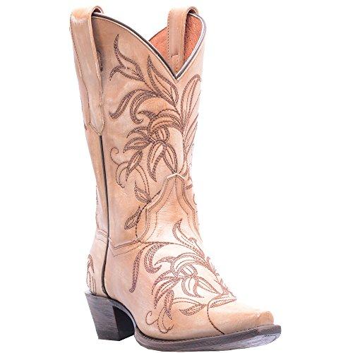Dan Post Womens Bone Cowboy Boots Leather Cowboy Boots Snip Toe 8.5 M