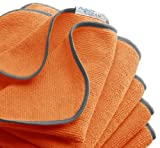 """Antimicrobial ultra microfiber cleaning cloth-PerfectCLEAN® 16"""" x 16"""" Orange All-purpose Micro-denier Terry – Ideal for household, automotive and all your GREEN cleaning needs (5 per pack)"""
