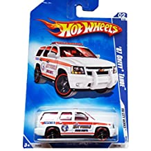 HOT WHEELS 2009 HW CITY WORKS 02/10 WHITE '07 CHEVY TAHOE FIRE DEPT. RECUE TRUCK 108/190