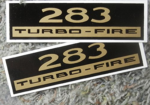 CHEVY 283 TURBO-FIRE VALVE COVER DECAL - Set Of 2 - STICKER ()