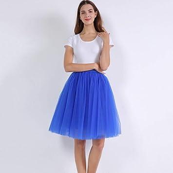 DAHDXD Faldas de Tul para Mujer Cintura Alta Columpio Dolly ...