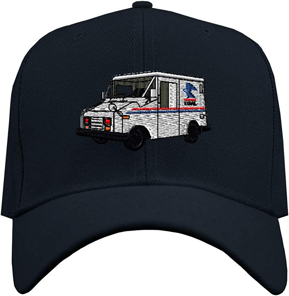 Speedy Pros Baseball Cap Mail Truck Mailman Embroidery Acrylic Dad Hats for Men & Women