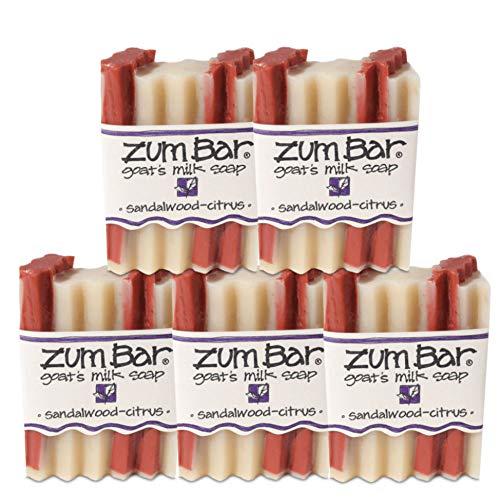 - Indigo Wild Zum Bar Goat's Milk Soap - Sandalwood Citrus 5 Pack