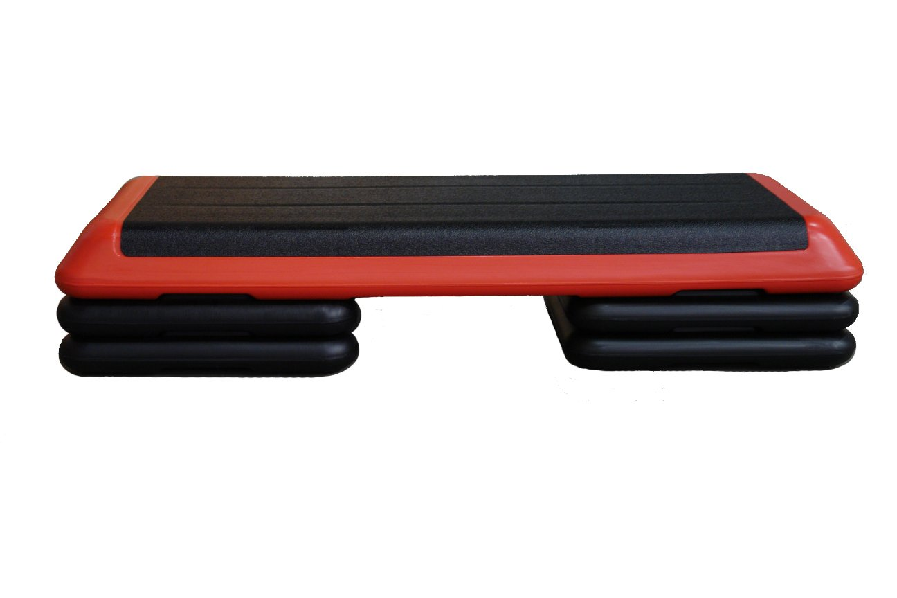 The Original Health Club Aerobic Step (Red and Black) Full Set by Workoutz