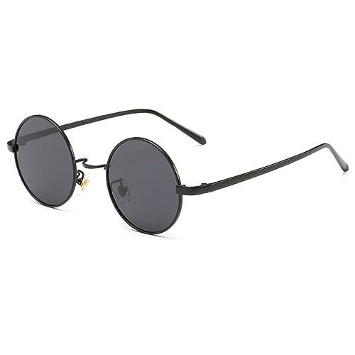 Highdas Uomo Donna Vintage Occhiali da sole Rotondi Polarizzati degli occhiali da sole Specchio Coat...