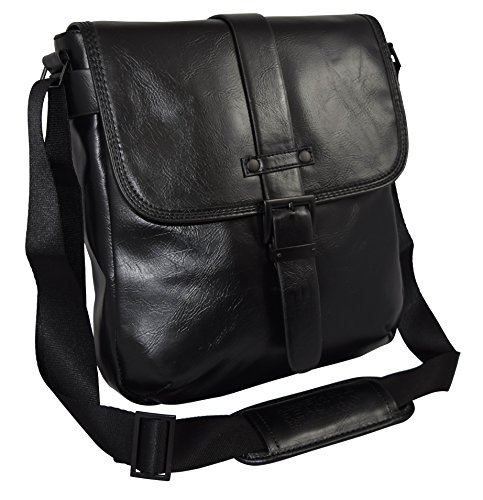 """Kenneth Cole """"Stand Back"""" Flapover Daybag Messenger Tablet C"""