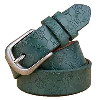 Green Leather Belt For Women