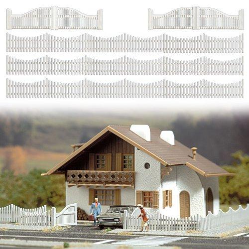 Busch 6009 Garden fnce Set w//4 Gates HO Scale Scenery Kit MODELS11 INC