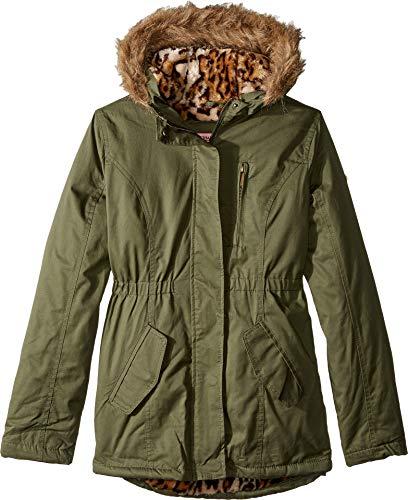 - Urban Republic Kids Cotton Twill Jacket W/Fur Trim Little Kids/Big Kids Olive Girl's Coat