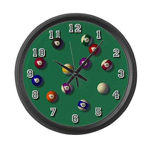 CafePress - Billiards LARGE Wall Clock - Large 17