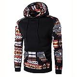 Accessories Men Best Deals - Men Shirt,Haoricu Fall Men Bohemia Retro Long Sleeve Hoodie Sweatshirt Tops Jacket Coat Outwear (L, Black Y)