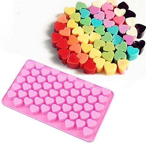Allforhome – Molde de silicona con diseño de corazón para piruletas, jabones, bombones de chocolate: Amazon.es: Hogar