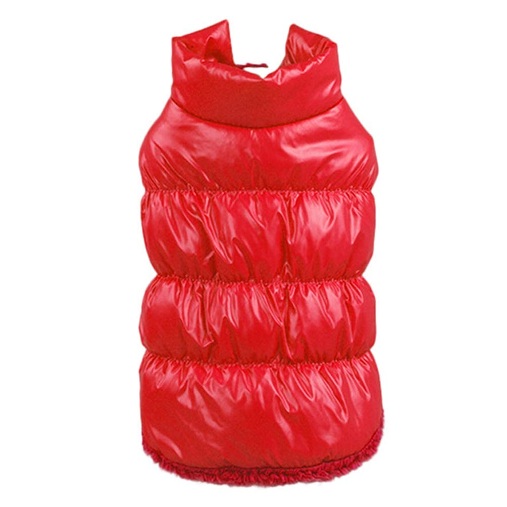 Red 2XL Red 2XL Jim Hugh Dog Coat Jacket Winter Dog Clothes Pet Padded Vest Coat Puppy Warm Down Fleece Polyester Clothes for Dog