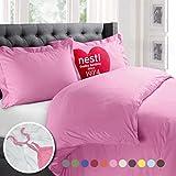 Nestl 2pc Bedding Duvet Cover & Pillow Sham Set, Twin, Light Pink Deal