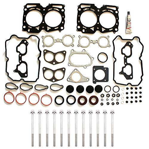 (ECCPP Engine Head Gasket Set w/Bolts fit 06-12 for for Saab 9-2X Subaru Forester XT Subaru Impreza WRX STI Subaru Legacy GT Subaru Outback XT Compatible fit for Gaskets)
