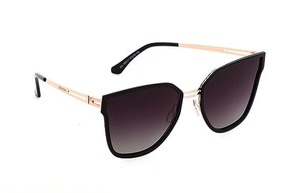 7c517d6b6c Despada, Made In ITALY Cat Eye Polarized Lens Metal Frame Ladies Sun  glasses Ds1552 (