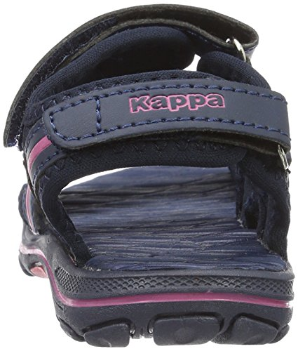 Kappa Mädchen Breezy Kids Riemchensandalen Blau (Navy/Pink)