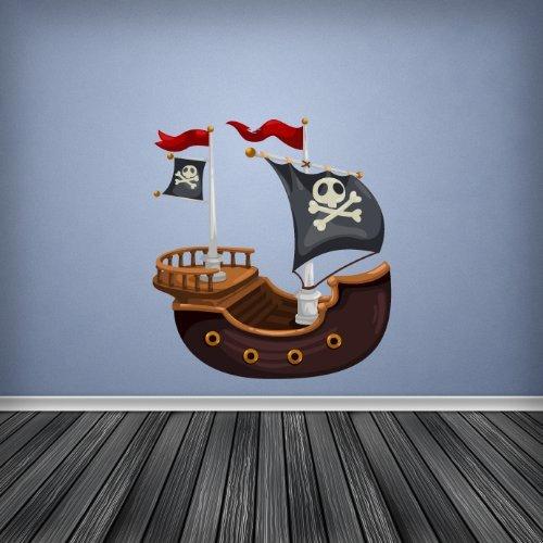 Large A Pieni Colori Nave Pirata Cameretta Ragazzi Stanza Beb/è Adesivo da Parete Decalcomania Cameretta Bambini D � Cor