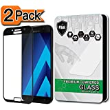 [2-Pack] PThink [Full Screen Coverage] Tempered Glass Screen Protector for Samsung Galaxy A5 2017 (Not for A5 2016) (A5 2017 - Black)