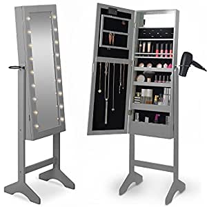 Amazon Com Beautify Mirrored Jewelry Armoire With Led