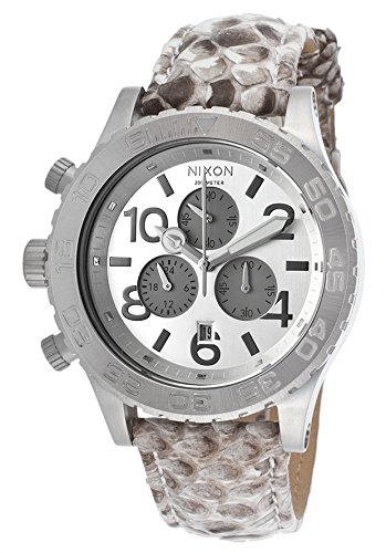 Nixon 42-20 Chrono Watch White Snake, One Size (Nixon Mens Dive Watch)