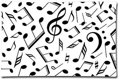 Klotr Fundas para Almohada, Pillow Covers Musical Notes Vector Art Double Printed Pillow Cases Cotton Sofa Cushion Cover for Home Decor: Amazon.es: Hogar