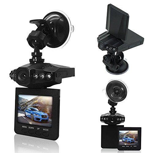econoLED Dash Cam,Car DVR,Dashboard Camera,Car Recorder 2.5 for Cars/HD IR Dash Cam 270 Degrees Rotatable Camera Video Recorder/Traffic Dashboard Camcorder Loop Recording-No Card USA