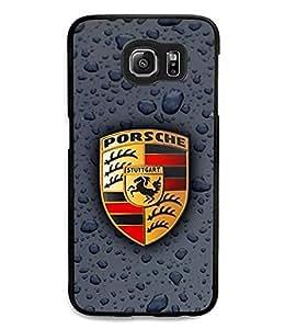 Samsung Galaxy S6 Funda Carcasa Case Porsche Logo Eco Friendly Plastic Funda Carcasa Case Cover