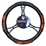 NFL Cleveland Browns Steering Wheel Cover, Black, One Size