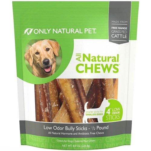 Only Natural Pet Low Odor 4' Bully Sticks 0.5 lb Bag