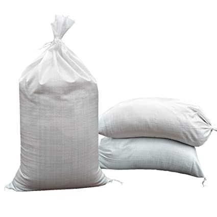SHOUTINN Empty Sand Bags - with Solid Ties, UV Protection Sandbags,14