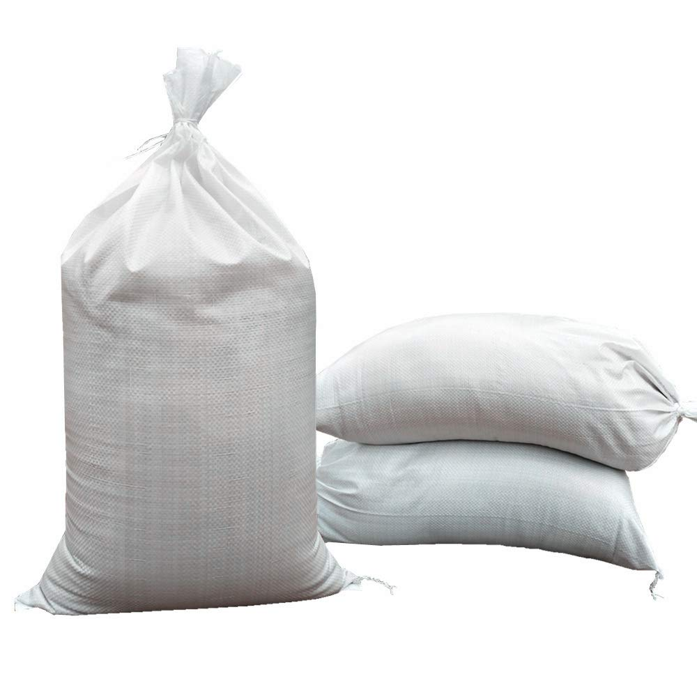 Empty Sand Bags - with Solid Ties, UV Protection Sandbags,14'' x 26'', Qty of 100