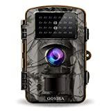 nature camera - Gosira Trail Camera Motion Activated 12MP HD 1080P Wildlife Hunting 0.5s Trigger 940nm Updated IR LED No Flash Night Vision 15M IP66 Waterproof Game Cam Wide Senor 90° detection Outdoor Nature Home