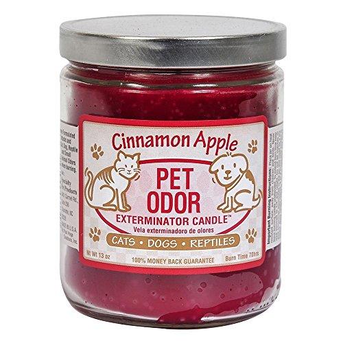 Pet Odor Exterminator Candle, Cinnamon Apple, 13 oz (Pet Odor Eliminator Candles)