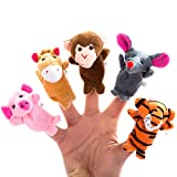 Image of Better line 20 Piece Story Time Finger Puppets Set - Cloth Puppets with 14 Animals Plus 6 People Family Members