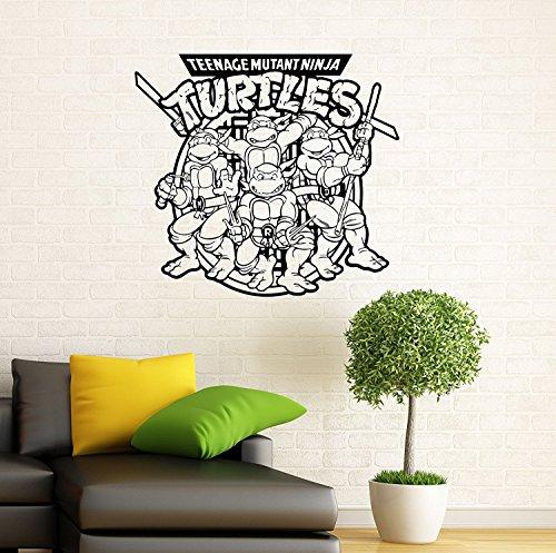 Ninja Turtles Wall Decal TMNT Vinyl Sticker American Comic Book Wall Graphics Home Interior Children Room Wall Decor (9n01t) -