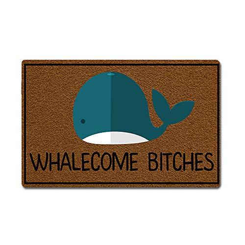 - Eprocase Doormat Rubber Backing Non-Slip Door Mat Outdoor/Indoor Entrance Door Mat Home Decor Mat Floor Mats Gate Pad, 23.6 x 15.7 Inches Whalecome Bitches