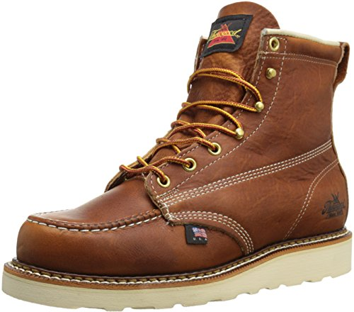 Thorogood 814-4200 American Heritage 6'' Moc Toe Boot, Tobacco, 10.5 B US by Thorogood