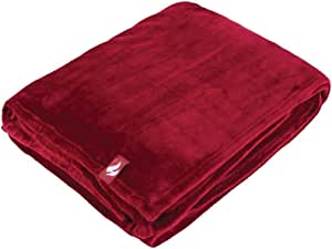 Heat Holders Snuggle Ups Oversized Luxury Thermal Throw-Blanket (Cranberry)