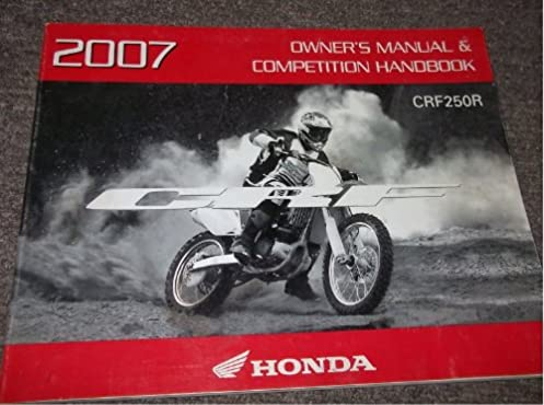2007 honda crf250r owners competition handbook manual amazon com rh amazon com 2007 honda crf250r service manual pdf 2009 Honda CRF250R